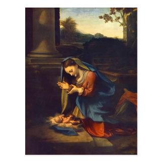 Adoration de Correggio- de l'enfant Carte Postale