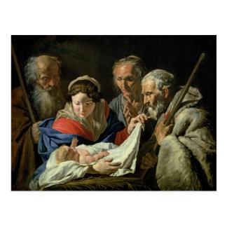Adoration de Jésus infantile Cartes Postales