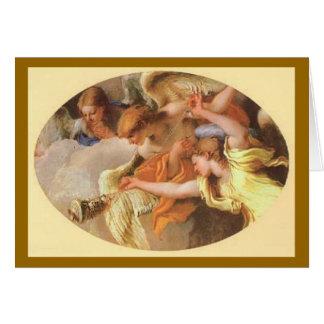 Adoration des bergers - carte de Noël