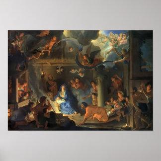 Adoration des bergers Le Brun Poster