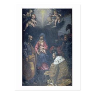 Adoration des Magi, 1629 (huile sur la toile) Carte Postale