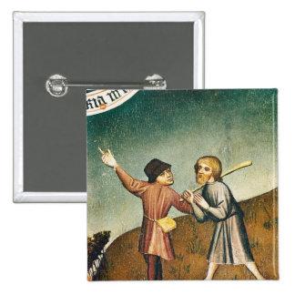 Adoration des Magi, détail de Badge Carré 5 Cm