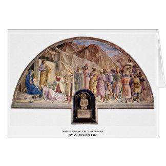 Adoration des Magi par Angelico ATF Carte De Vœux