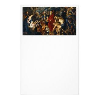 Adoration des Magi par Rubens Prospectus 14 Cm X 21,6 Cm