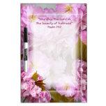 Adorez le conseil d'effacement de fleurs de cerisi tableaux effaçables à sec