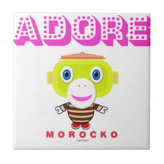 Adorez - le Singe-Morocko mignon Carreau