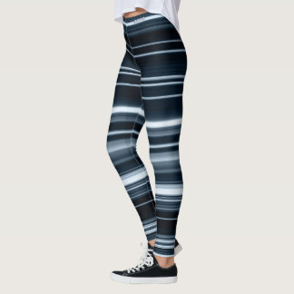 Adorez les guêtres barrées par foudre bleue leggings
