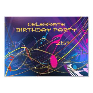 Ados ou adultes de célébration de partie de carton d'invitation  12,7 cm x 17,78 cm
