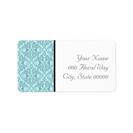 Adresse blanche noire turquoise Lables de mariage Étiquette D'adresse