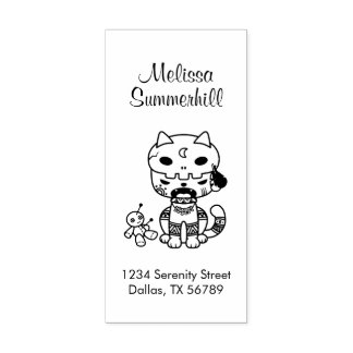 Adresse de chat de poupée de vaudou
