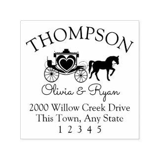 Adresse de cheval et de chariot tampon auto-encreur
