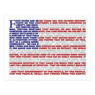 Adresse de Gettysburg Carte Postale