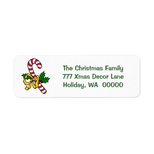 Adresse de Noël de Noël de vacances de ruban de Étiquette D'adresse Retour