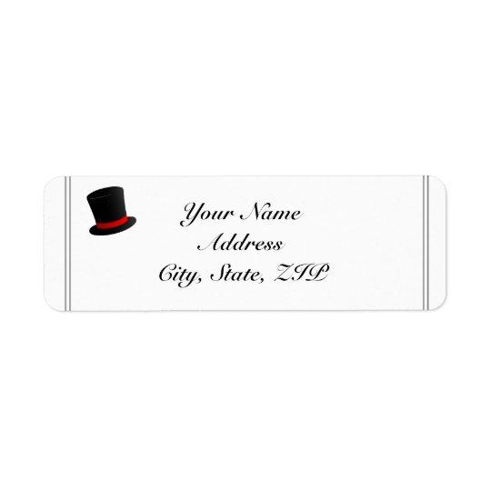 Adresse de retour de casquettes supérieurs et de étiquette d'adresse retour