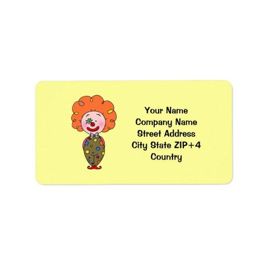 Adresse de retour de clown drôle de partie étiquette d'adresse