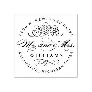 Adresse de retour de M. et de Mme Monogram |