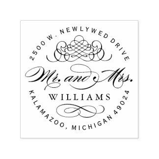 Adresse de retour de M. et de Mme Monogram | Tampon Auto-encreur