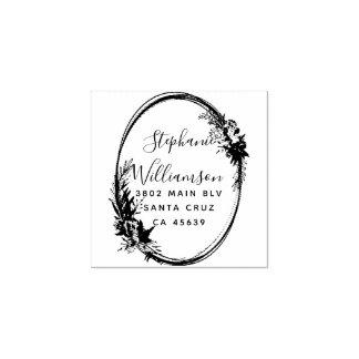 Adresse de retour de mariage floral romantique