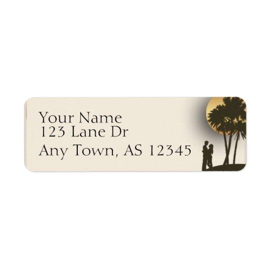Adresse de retour de paradis d'île étiquette d'adresse retour