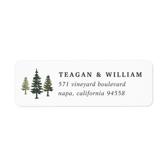Adresse de retour de pins grands étiquette d'adresse retour
