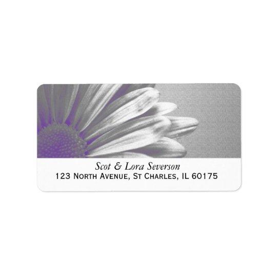Adresse de retour de points culminants floraux étiquette d'adresse