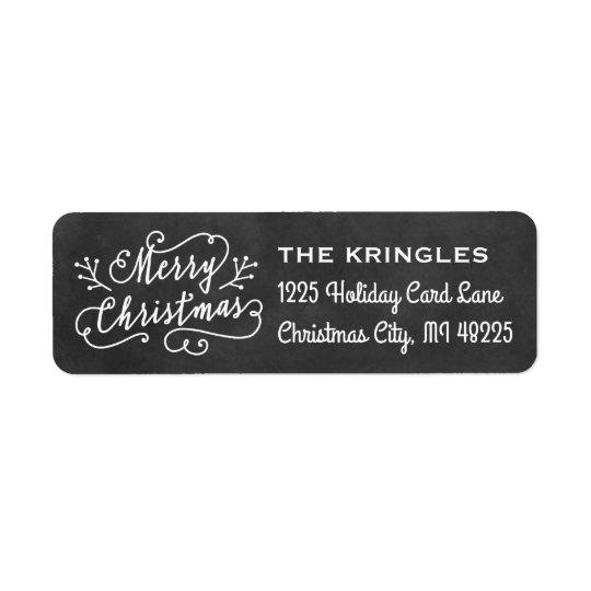 Adresse de retour de vacances du Joyeux Noël | Étiquettes D'adresse Retour