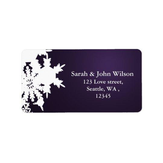 adresse de retour d'hiver de flocon de neige étiquettes d'adresse