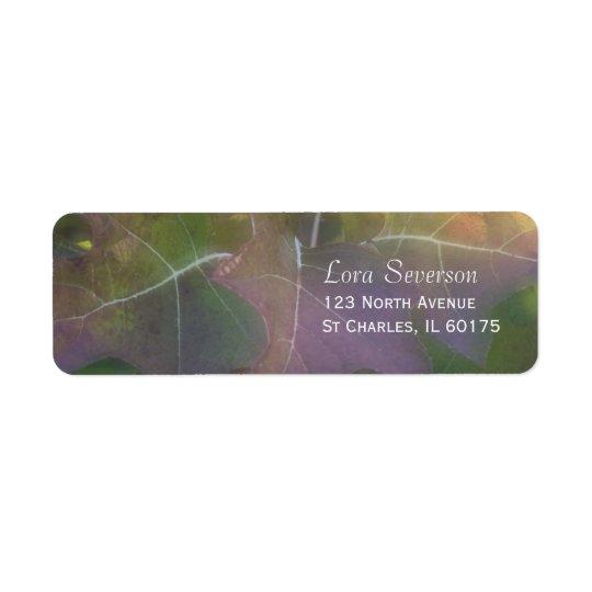 Adresse de retour d'hortensia de feuille de chêne étiquette d'adresse retour