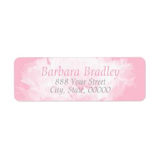 Adresse de retour du motif 1 floral rose de étiquette d'adresse retour