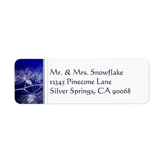 Adresse de retour faite sur commande de pin blanc  étiquettes d'adresse retour