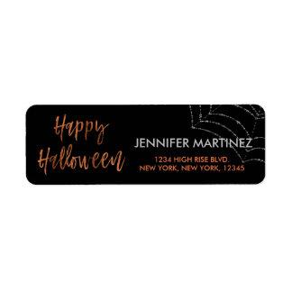 Adresse de retour moderne heureuse de Halloween Étiquettes D'adresse Retour