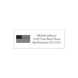 Adresse de retour patriotique de coutume de tampon auto-encreur
