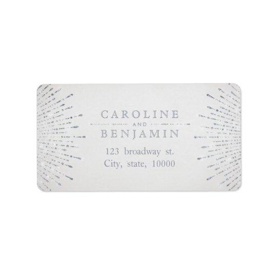 Adresse de retour vintage de deco argenté étiquette d'adresse