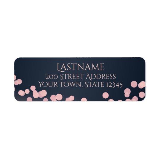 Adresse de rose de lumières d'étincelle et de bleu étiquette d'adresse retour