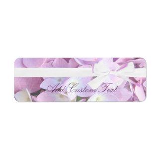 Adresse/expédition roses de mariage de ruban d'hor étiquette d'adresse retour