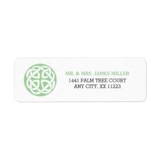 Adresse irlandaise 3991 de noce de noeud celtique étiquette d'adresse retour