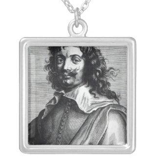 Adriaen Brouwer, gravé par Edme de Boulonois Pendentif Carré