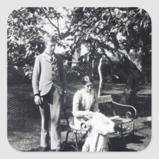 Adrian et Virginie Stephen, 1900 Sticker Carré