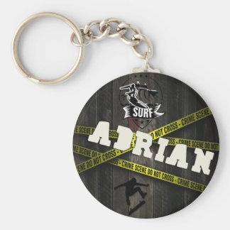 ADRIAN - Skater Style Porte-clé Rond
