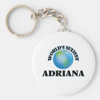 Adriana la plus sexy du monde porte-clé rond