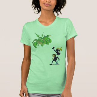 Adrianna et dragon de combat de Rebecca par Nino T-shirt