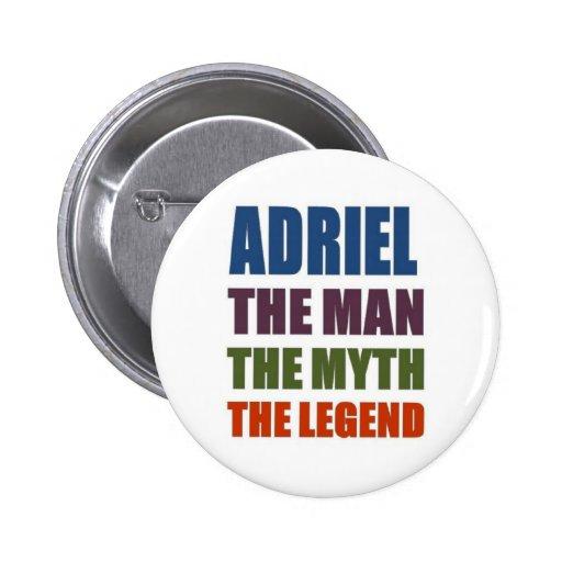 Adriel l'homme, le mythe, la légende pin's avec agrafe