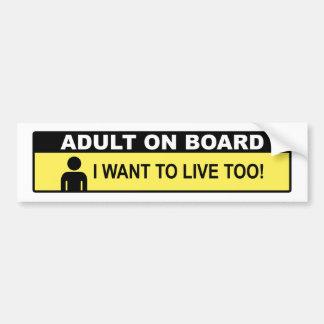 Adulte à bord autocollant pour voiture