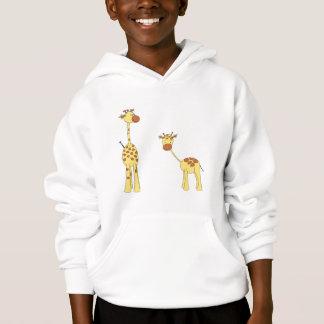 Adulte et girafe de bébé. Bande dessinée