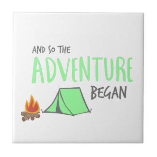 adventurebegan petit carreau carré
