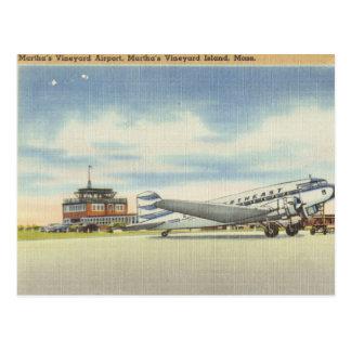 Aéroport de vignoble de Marthas Carte Postale