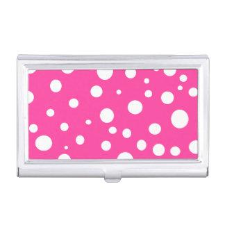 Affaire de carte de visite blanche rose de mode de boîtier pour cartes de visite