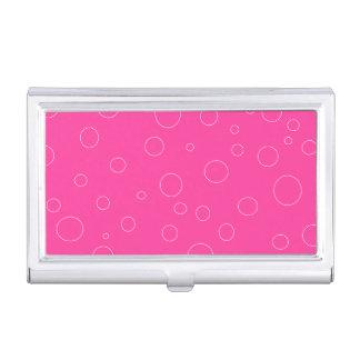 Affaire de carte de visite blanche rose de mode de étuis pour cartes de visite