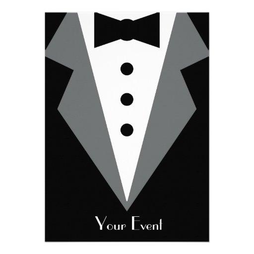 Affaire de cravate noire invitations personnalisées