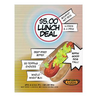 Affaire de déjeuner de hot-dog prospectus 21,6 cm x 24,94 cm
